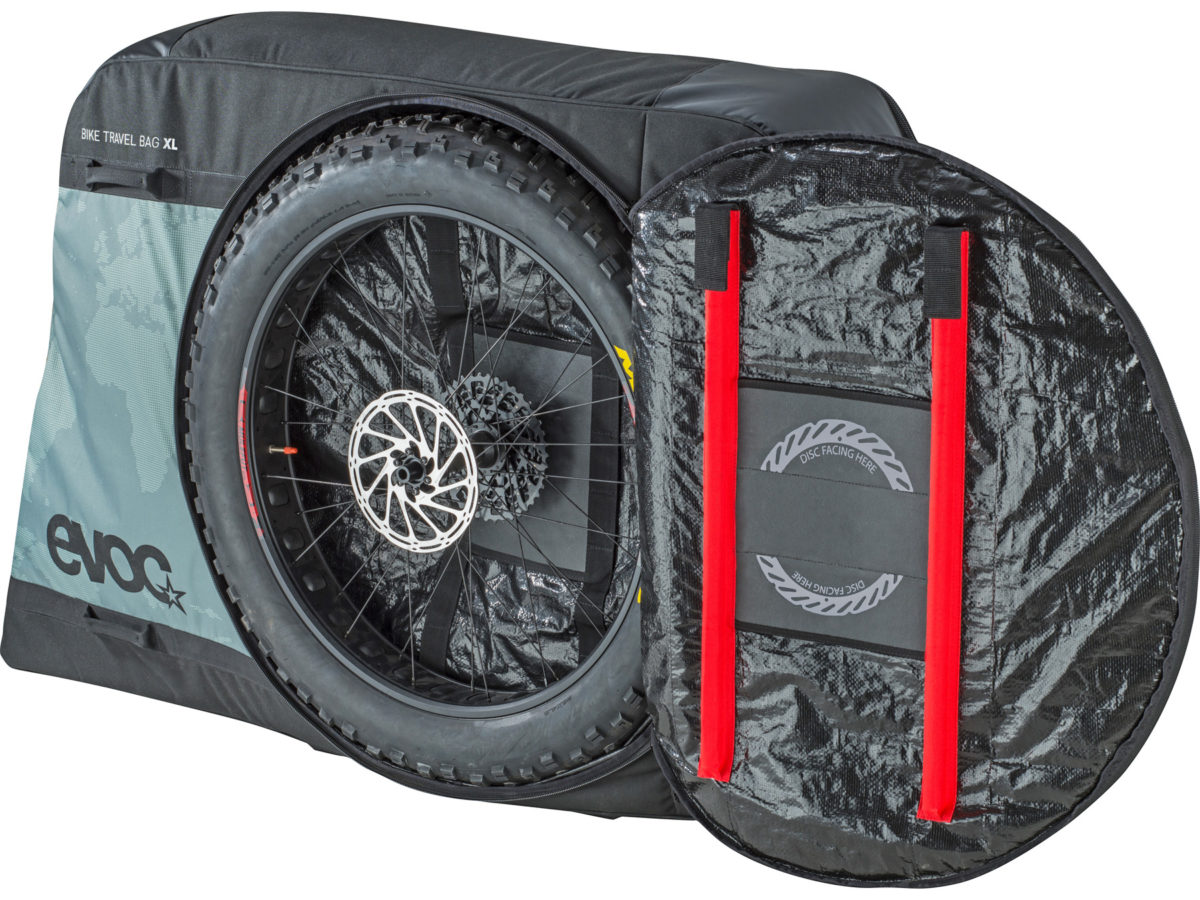 8e67f402d69 EVOC Bike Travel Bag XL fat bike plus sized mountain bike padded soft travel  case wheels