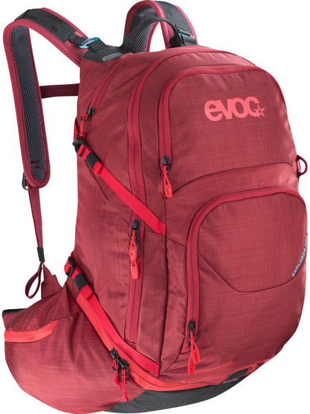 EVOC Explorer Pro 30l multi-day all-mountain trail bike backpack small 26l red