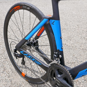 KTM Revelator Lisse fully-integrated cockpit carbon disc-brake aero road bike rear end