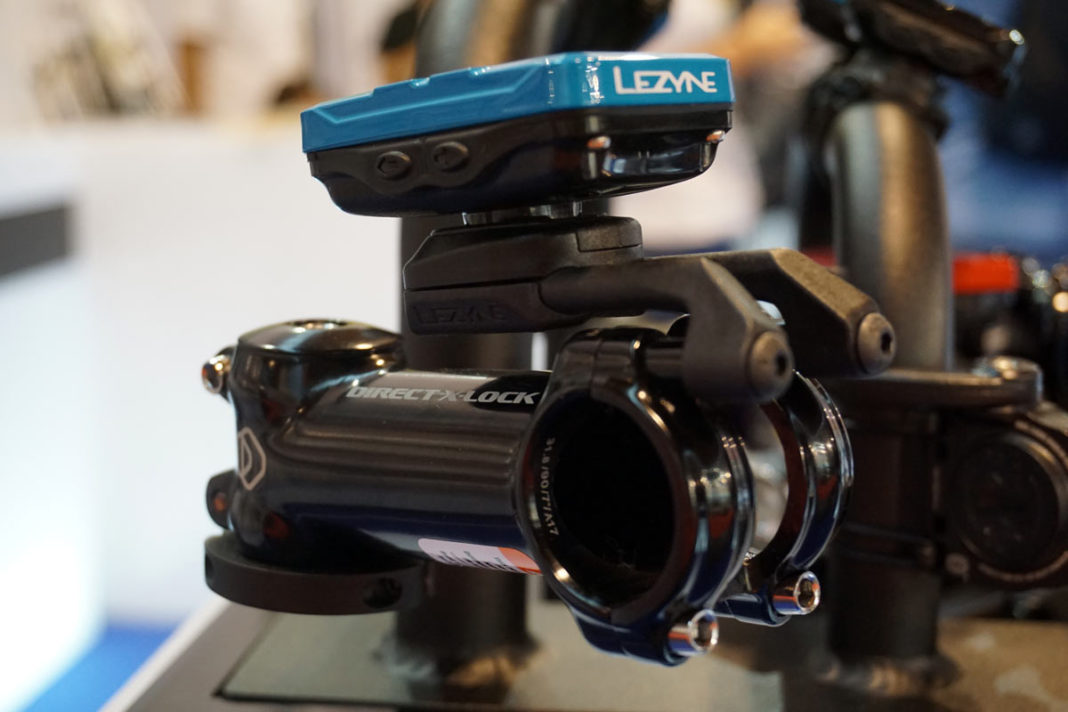 lezyne direct x-lock gps cycling computer mount that attaches with your stem bolts