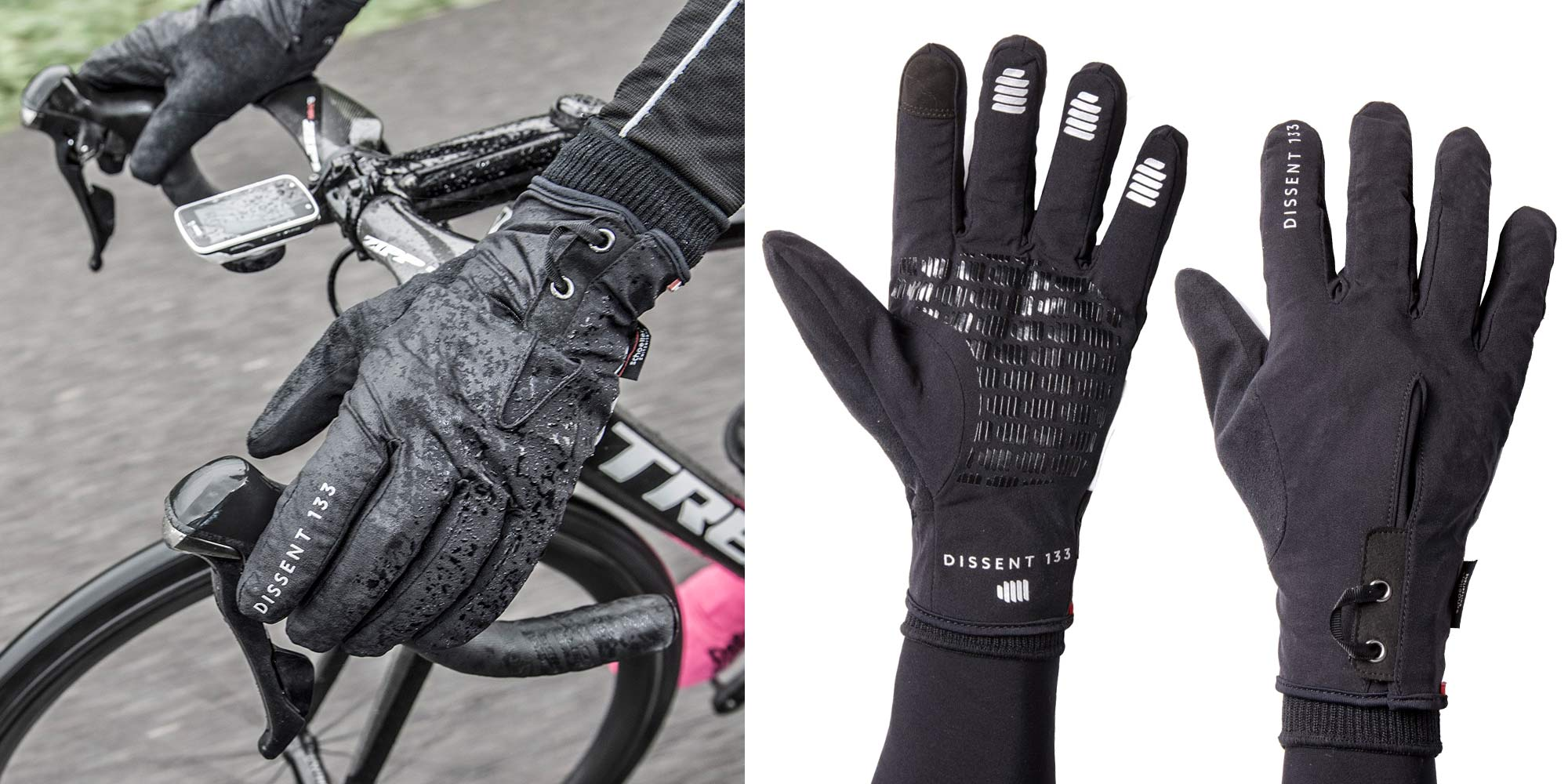 Dissent 133 by TheRiderFirm layered winter biking gloves wet cold cycling glove system OutDry waterproof shell glove