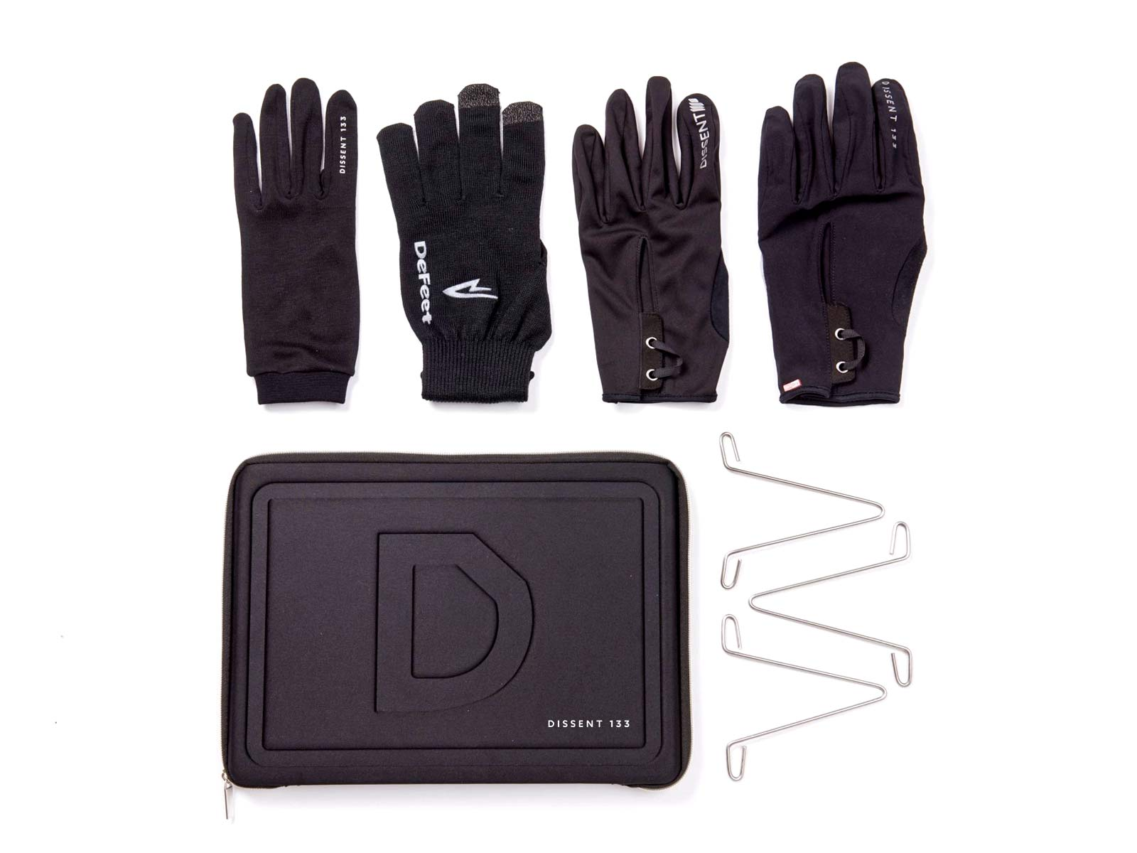 Dissent 133 by TheRiderFirm layered winter biking gloves wet cold cycling glove system Ultimate Pack four glove system