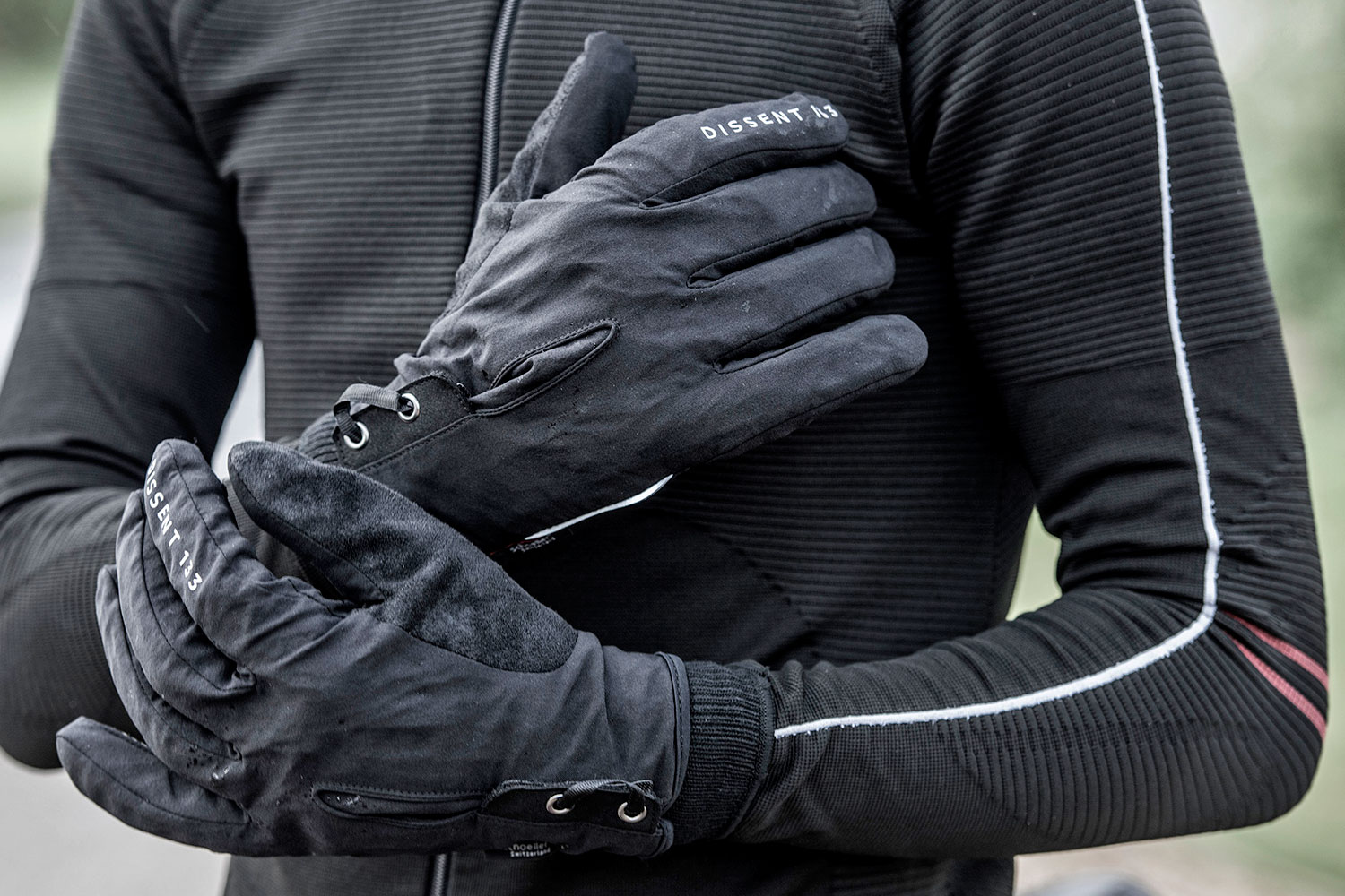 Dissent 133 by TheRiderFirm layered winter biking gloves wet cold cycling glove system