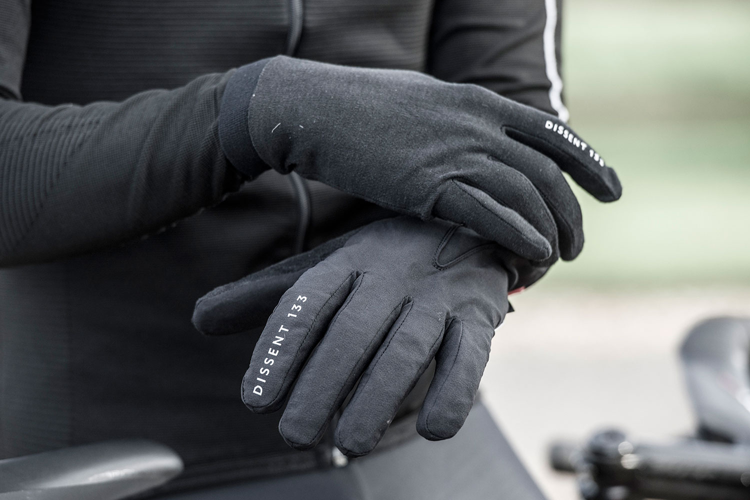 Dissent 133 by TheRiderFirm layered winter biking gloves wet cold cycling glove system layers