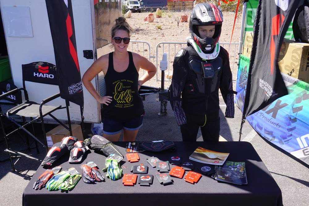 EVS motocross body armor tests the waters with mountain bikers