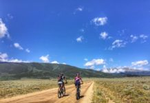 bikerumor pic of the day columbine climb trail for the Leadville 100 mtb race, colorado.