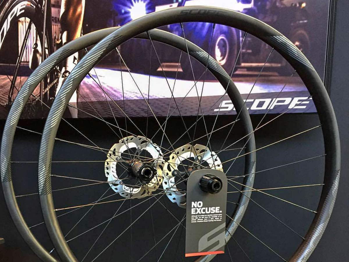 Scope Cycling O2 Off-Road Expert hookless carbon tubeless gravel XC XCM Cross-country mountain bike race wheelset Eurobike