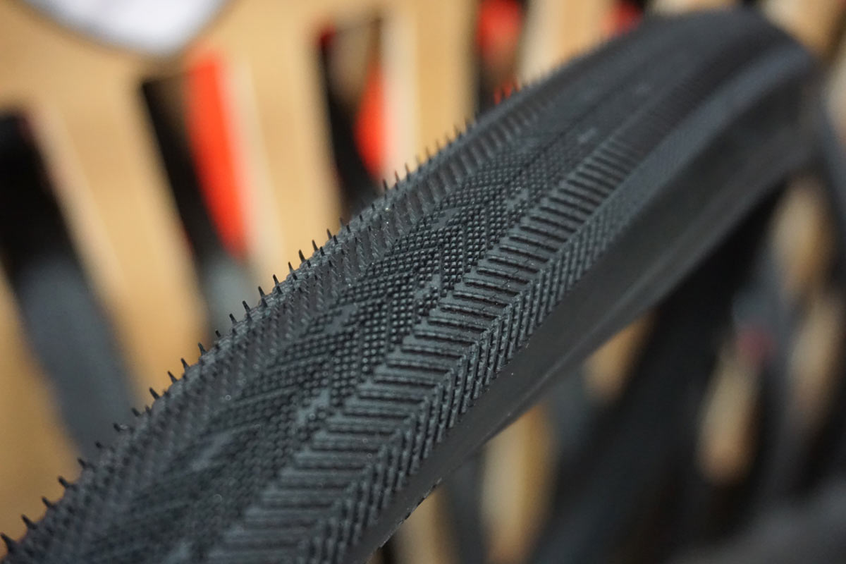 Donnelly CDG aggressive road tubeless tire designed for cobbled classics road bike races