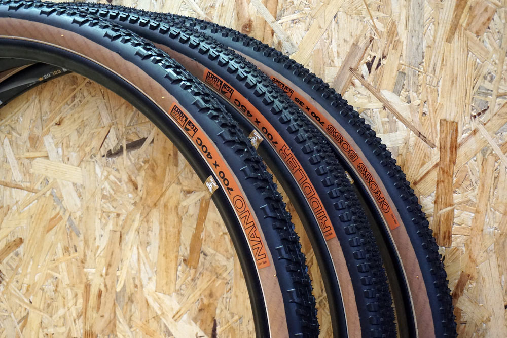 WTB nano riddler and cross boss gravel and cyclocross tires now available with tan sidewalls