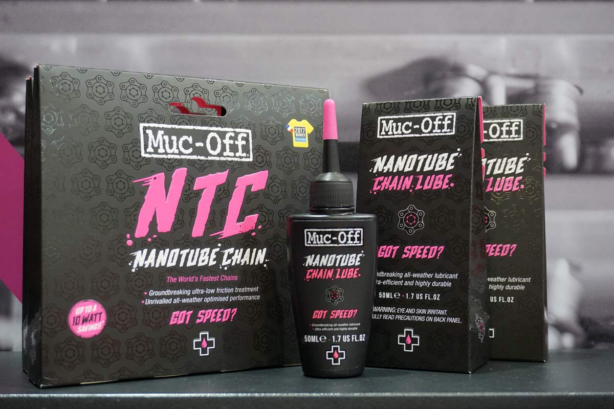 muc off nanotube chain lube to minimize friction on your existing bicycle chain just like their coated nanotech chains