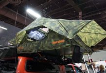 yakima x poler camo collaboration highrise vehicle rooftop tent system and new accessories
