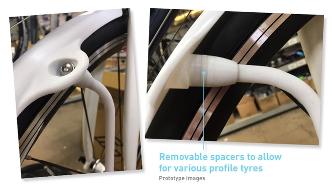 Quickguard fender replaces Quick Release nut for fenders that won't touch the frame