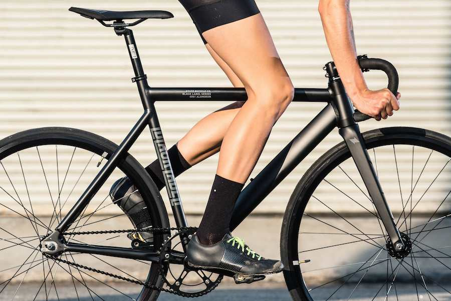The State Bicycle Co Black Label V2 has aggressive track inspired geometry