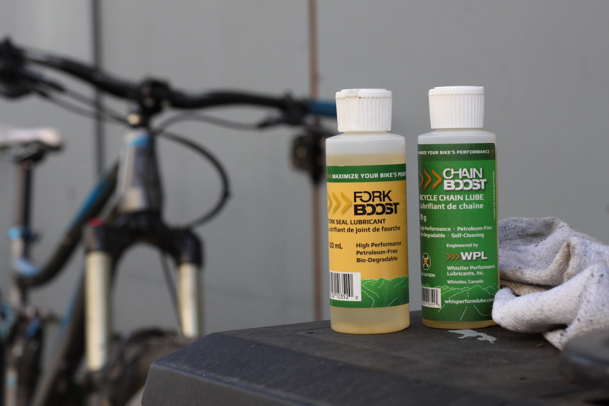 Whistler Performance Lubricants, Fork and Chain Boost bottles