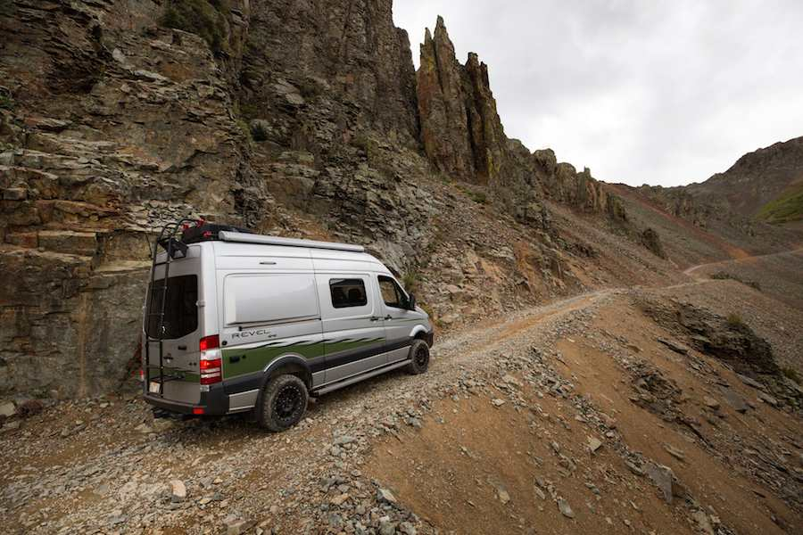 The off-road ready Winnebago Revel has high and low range gearing.