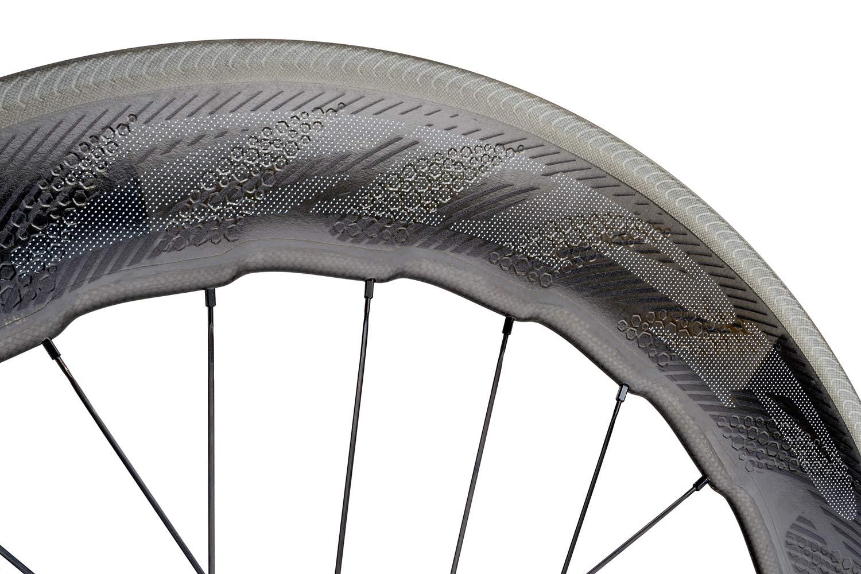 Zipp 858 NSW aero deep section carbon clincher road bike race wheels rim brake Sawtooth humpback whale rim shape