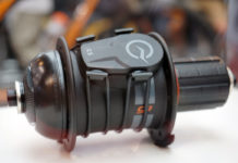 Cycleops Magnetless Speed and Cadence sensor straps to your hub or crank arm to measure cycling performance