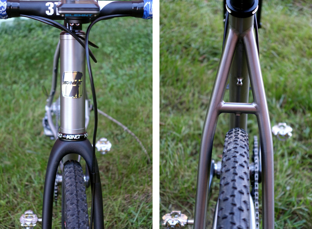 sage titanium PDXCX cyclocross bike claims to have clearance for 700 x 42mm tires