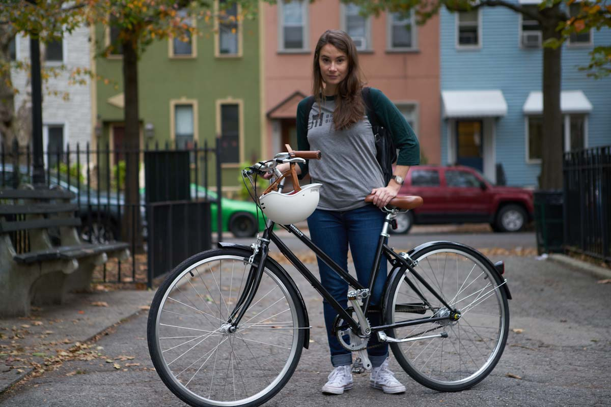 Brooklyn Bicycle Co, girl with Franklin