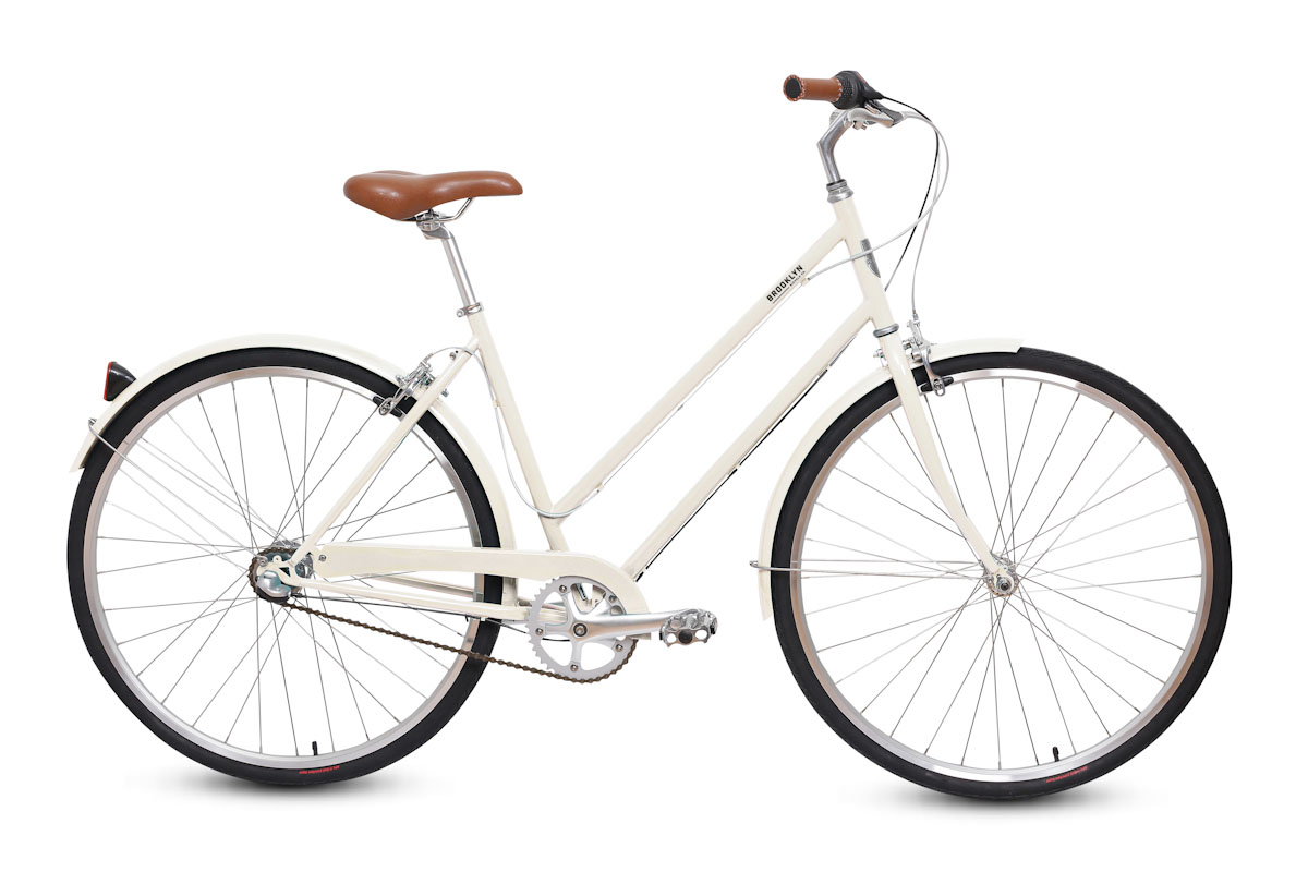 Brooklyn Bicycle Co Franklin 3-speed, ivory, side
