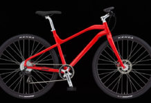 Clear Bicycle Company, the One commuter bike, Red, side