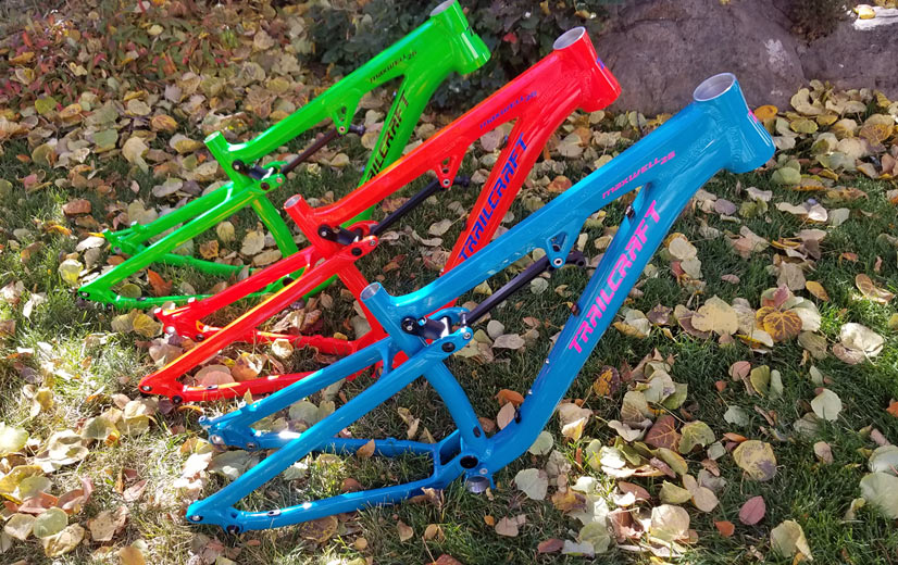 Trailcraft cycles makes premium kids mountain bikes in several colors