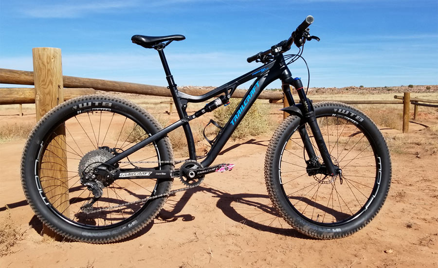 Trailcraft Cycles Maxwell 26-plus full suspension mountain bike for kids