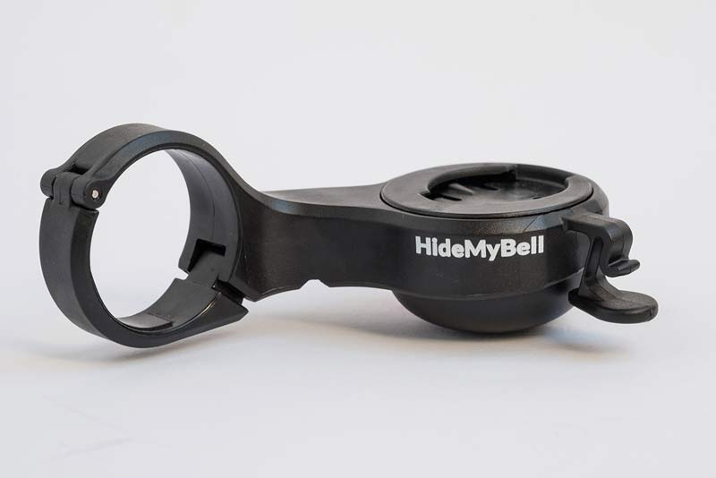 hidemybell mini out front gps cycling computer mount with integrated built-in bike bell