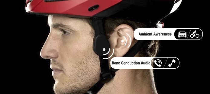 Coros OMNI smart helmet, bone conduction audio graphic