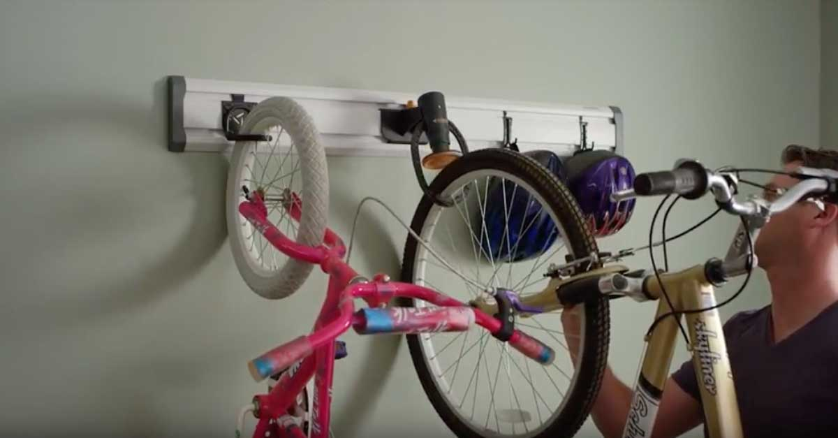 Gladiator Garageworks Bike Geartrack Makes Quick Work Of