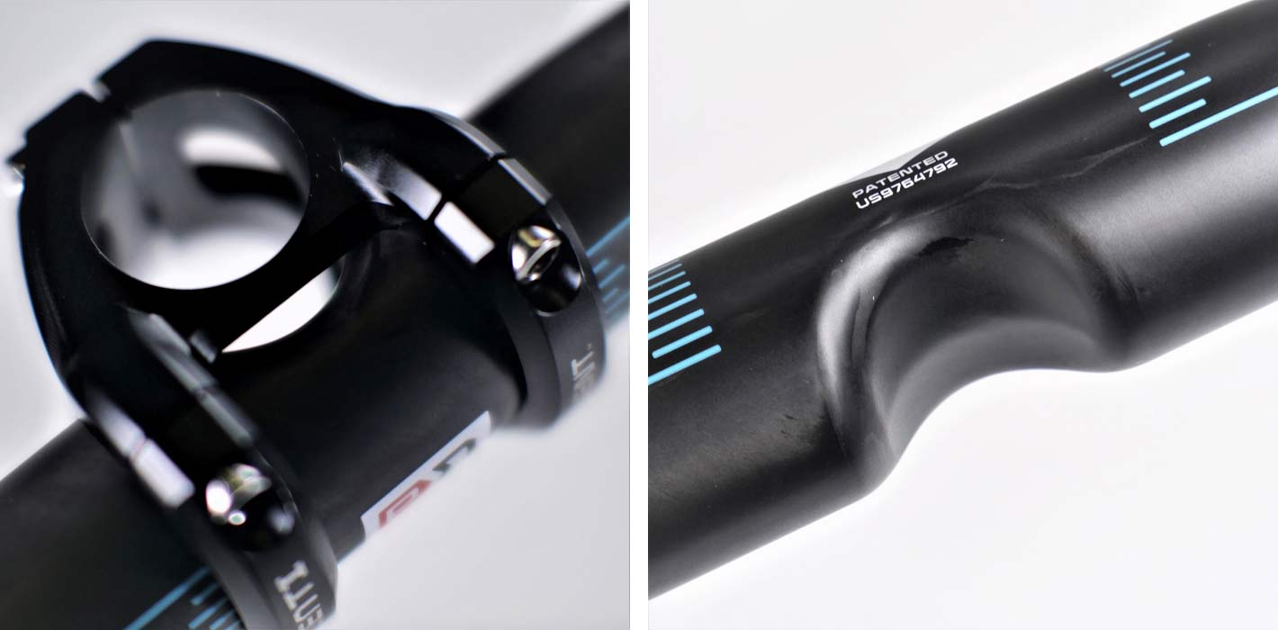pacenti pdent 25mm and 20mm mountain bike stems with 35mm diameter carbon fiber riser handlebar is the shortest mtb stem in the world