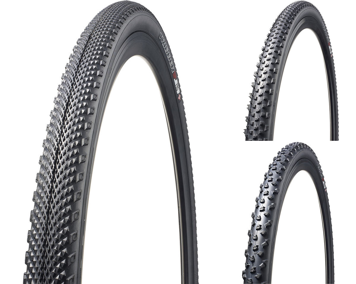 Specialized Trigger Pro file tread cyclocross tire will carry forward unchanged as a gravel road bike tire option in wider sizes