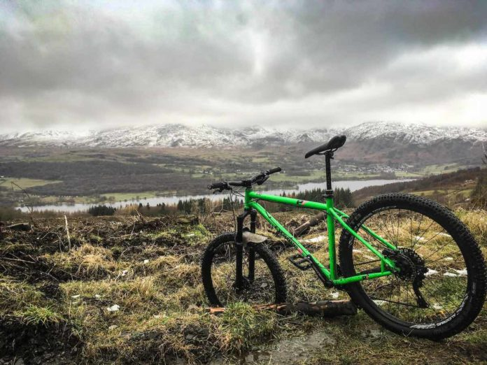 bikerumor pic of the day cycling Coniston Water in Cumbria, UK.