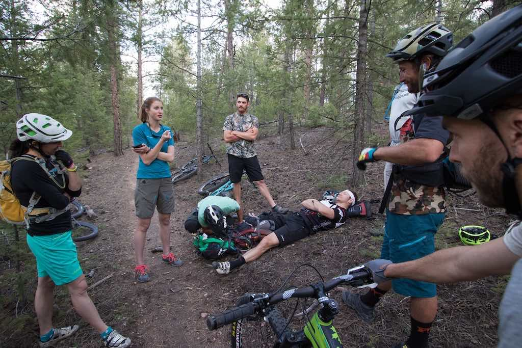 Few riders are trained to respond to injuries on the trail.