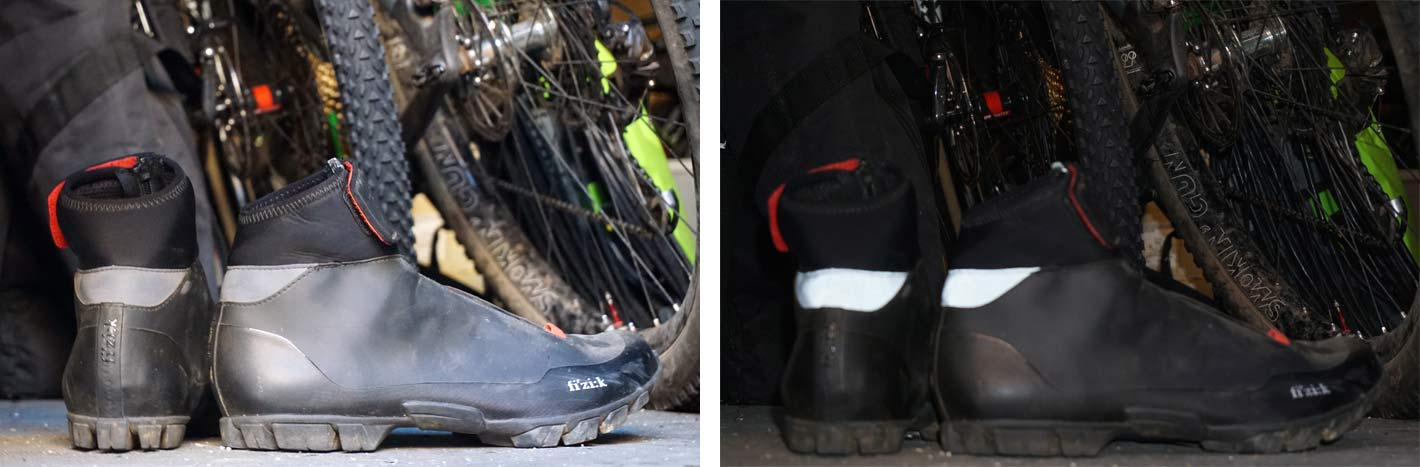 fizik artica x5 winter mountain bike shoes with waterproof shell and insulated footbed