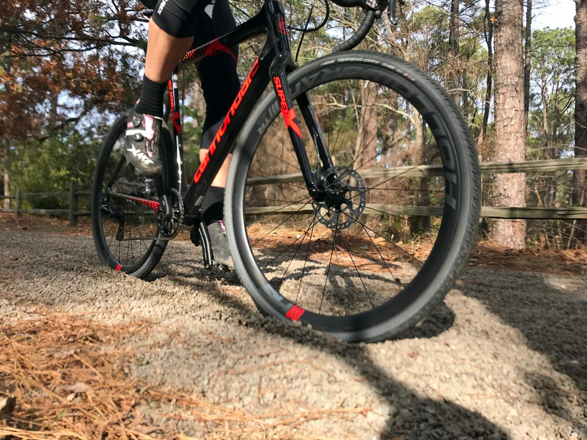 Vittoria Terreno Dry conditions tubeless clincher cyclocross tire doubles as a gravel road bike tire