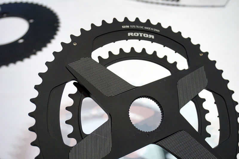 2018 Rotor Aldhu are their lightest road bike cranks with a powermeter