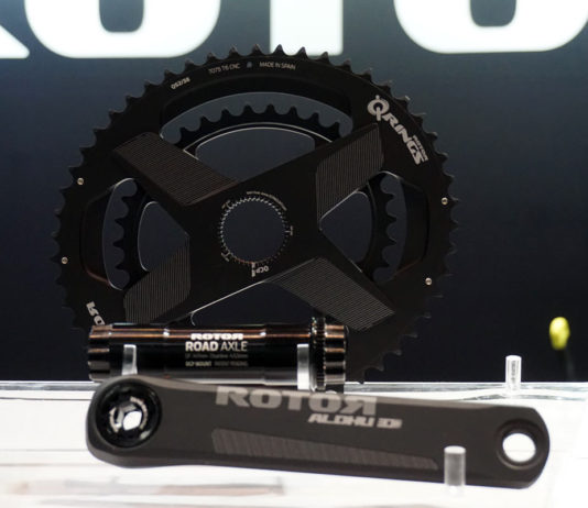 2018 Rotor Aldhu are their lightest power meter road bike cranks