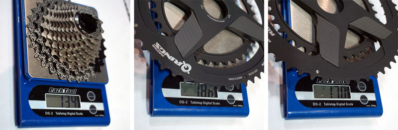 2018 Rotor Aldhu crankset chainring actual weights