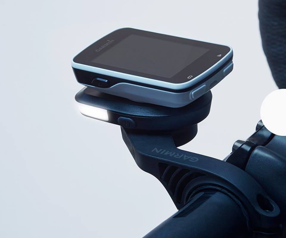 Fabric Luminary stacks light between your Garmin and its mount
