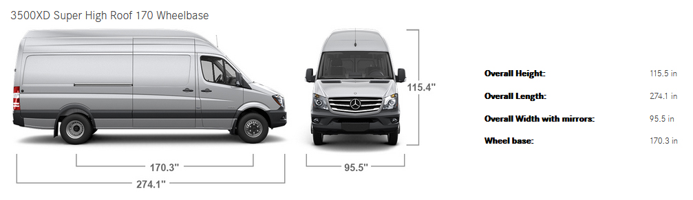 Vanlife picking the right cargo van or vehicle for your for 2017 mercedes benz 3500xd high roof v6 4wd cargo van