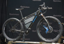nabs 2018 appleman carbon drop bar fat bike with titanium S-and-S couplers clears a four inch tire