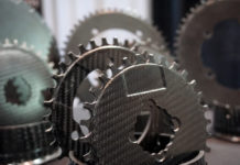 carbon tactic full carbon chainrings for 1x gravel road and mountain bikes