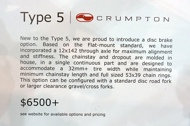 crumpton cycles type 5 disc brake road bike