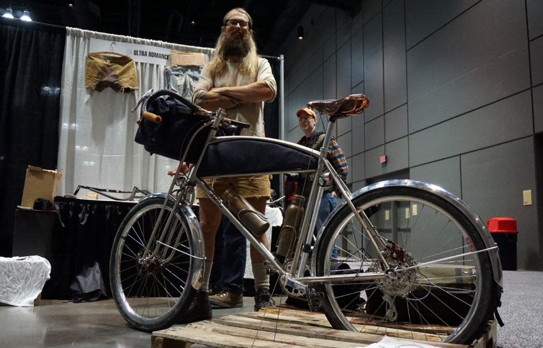ultraromance custom sklar bike for riding connecticut backroads from nahbs 2018