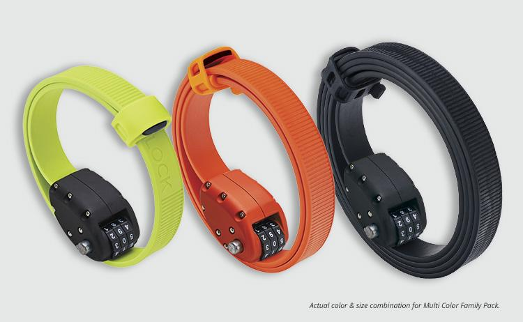 The otto lock fits around just about anything and cinches tight.