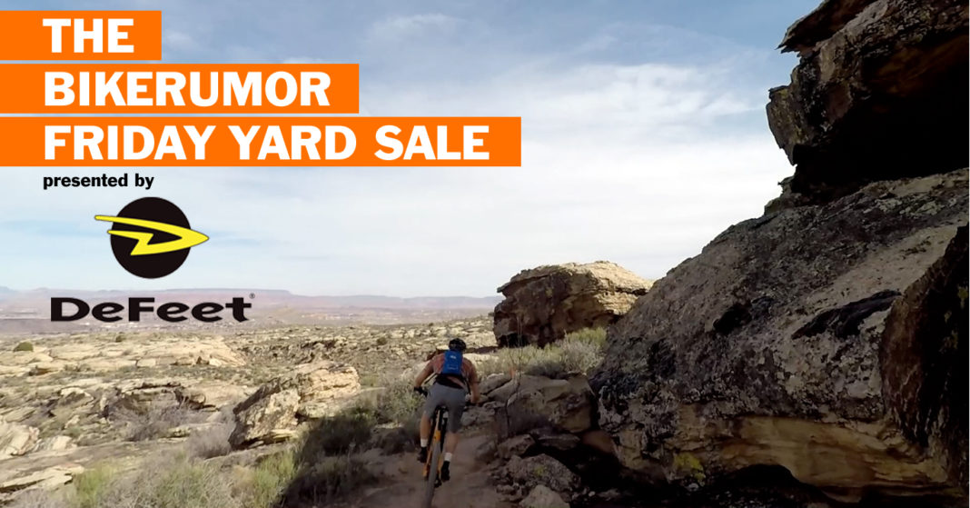 Bikerumor Friday Yard Sale weekend recap of cycling tech for March 9 2018 where you can win free Defeet socks