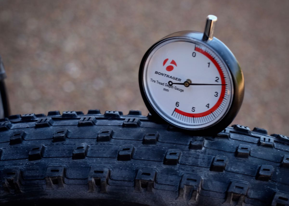 Bontrager's new tread depth gauge can help determine when to replace a tire.