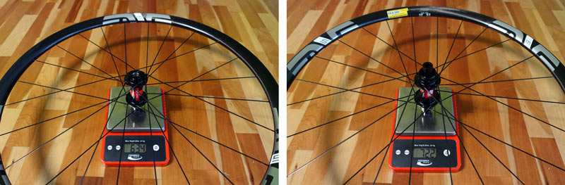 ENVE M525 carbon mountain bike wheel review and actual weights