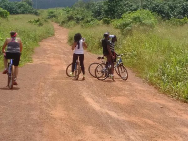 bikerumor pic of the day Rest stop at one of the local villages in route to Asenema waterfall in Aburi, Ghana.